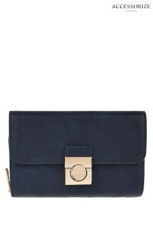 Accessorize Bluebecky Push Lock Wallet