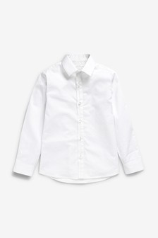 Signature Long Sleeve Tonal Geo Smart Shirt (3-16yrs)