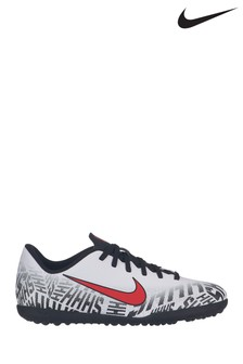 Nike White Neymar Vapor 12 Club Turf Junior & Youth