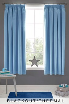 Micro-Fresh Plain Dye Pencil Pleat Lined Curtains
