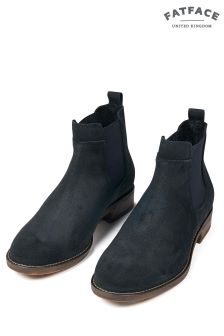 FatFace Navy Newham Suede Chelsea Boot