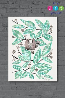 Happy Sloth by Cat Coquillette Canvas