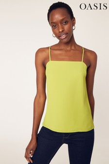 Oasis Yellow Square Neck Cami