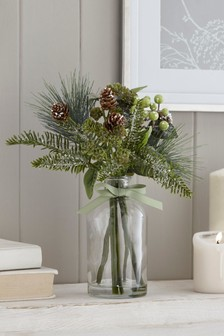 Artificial Winter Foliage In Bottle