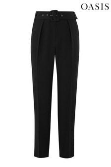 Oasis Black Peg Trouser