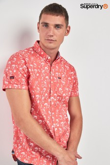 Superdry Coral Short Sleeve Print Shirt