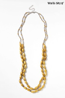 White Stuff Natural Layered Ceramic Twist Necklace
