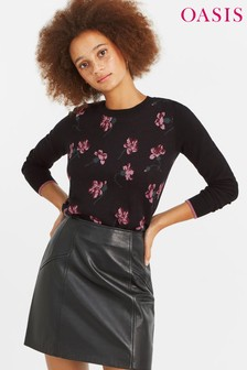 Oasis Multi Black Olivia May Jumper