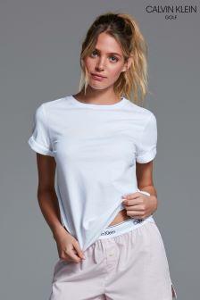 Calvin Klein White Crew Neck Lounge T-Shirt