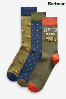 Barbour® Explore Socks Three Pack Gift Box