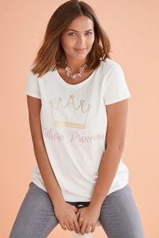 "T-Shirt mit ""Future Royalty""-Slogan (Umstandsmode)"