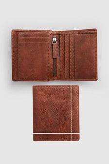 Кожаный кошелек со множеством отделений для кредитных карт