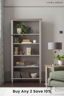 Hanover Pale French Grey Single Bookcase by Laura Ashley