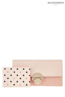 Cartera con solapa color nude Eva de Accessorize