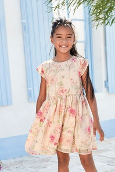 Flower Print Dress (3-16yrs)