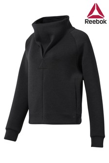 Reebok Black Training Supply Cowl Neck Top