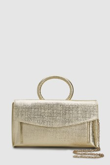 Ring Handle Clutch Bag