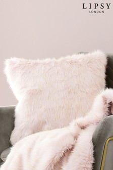 Lipsy Metallic Faux Fur Cushion