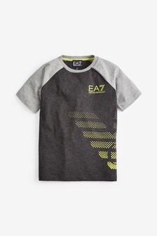 EA7 Navy Grey Logo T-Shirt