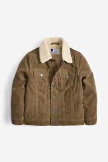 Borg Lined Cord Jacket (3-16yrs)