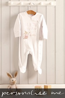 Personalised Little Sister Fairy Sleepsuit