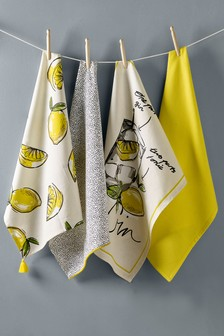 Set of 4 Gin & Tonic Tea Towels