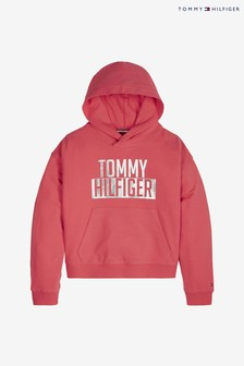 Tommy Hilfiger Pink Logo Hoody