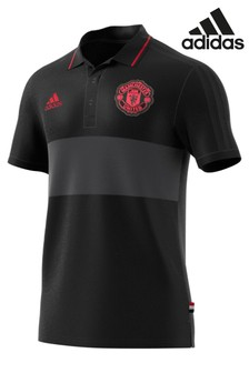 adidas Black Manchester United Polo
