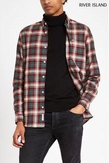River Island Grey/Red Check Shirt