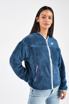 Nike Sportswear Zip Through Plush Jacket