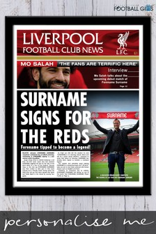 Personalised Liverpool Framed Newspaper Print