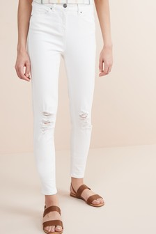 Skinny-Jeans in Used-Optik