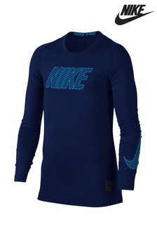 Nike Navy Long Sleeve Compress Tee
