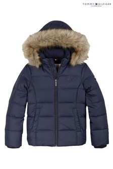 Tommy Hilfiger Blue Essential Basic Down Jacket