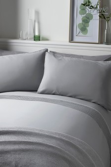 Serene Pom Pom Duvet Cover and Pillowcase Set