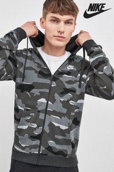 Nike Kapuzenjacke mit durchgehendem Reißverschluss in Camouflagemuster