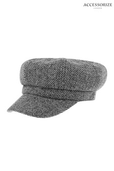 Accessorize Monochrome Bakerboy Hat