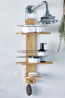 Bamboo Bathroom Shower Shelves