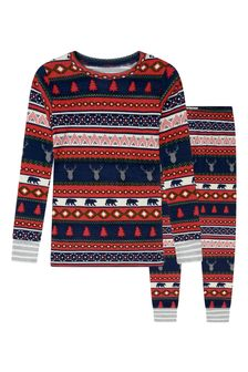 Boys Organic Cotton Red Pyjamas