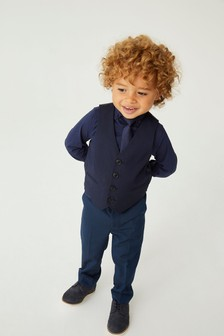 Shirt, Tie And Waistcoat Set (12mths-16yrs)