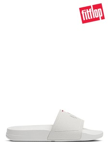 FitFlop White Men's iQushion Pool Sliders
