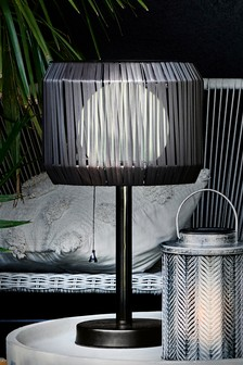 Rattan Solar Table Lamp