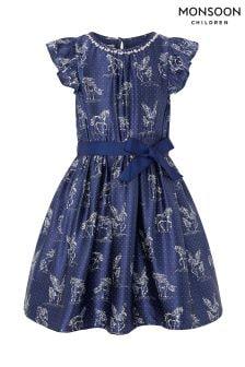 Monsoon Evalyn Unicorn Satin Dress