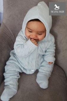 The Little Tailor Baby-Strickstrampler, blau