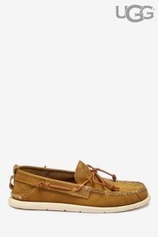 Karmelowe buty żeglarskie wsuwane UGG®