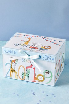Born In 2019 Baby Boy Keepsake Box
