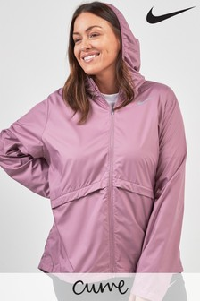 Nike Curve Plum Dust Essential Running Jacket
