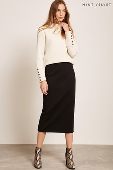 Mint Velvet Black Pencil Skirt