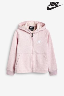 Nike Little Kids Pink Zip Through Hoody