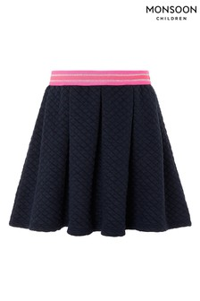 Monsoon Navy Quinn Quilted Skirt